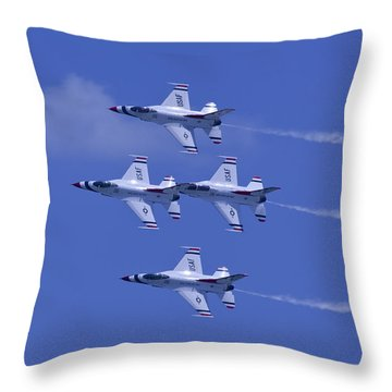 Thunderbirds Diamond Formation Topsides Throw Pillow