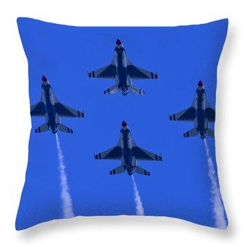 Thunderbirds Diamond Formation Undersides 2 Throw Pillow