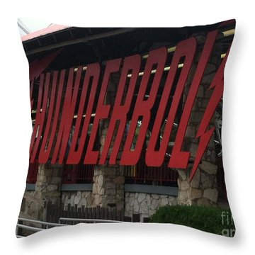 Thunderbolt Roller Coaster Throw Pillow by Michael Krek