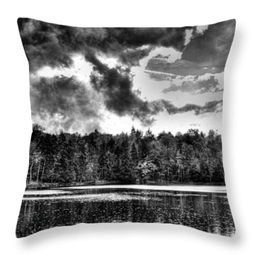 Thunderclouds Over Cary Lake Throw Pillow by David Patterson