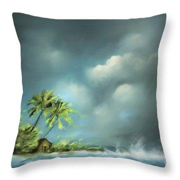 Thunderstorm At Jupiter Beach Throw Pillow