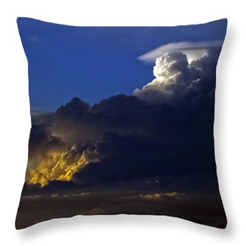Throw Pillow featuring the photograph Thunderstorm II by Greg Reed