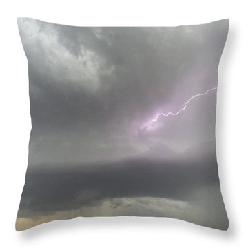 Throw Pillow featuring the photograph Thunderstorm by Rob Graham