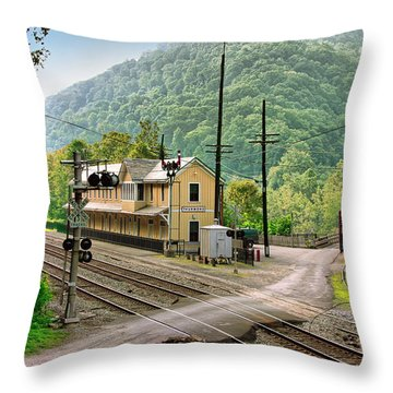 Thurmond After The Rain Throw Pillow by Mary Almond