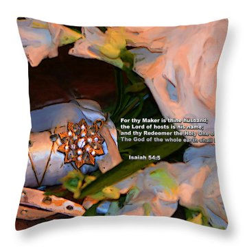 Thy Maker Is Thine Husband Throw Pillow