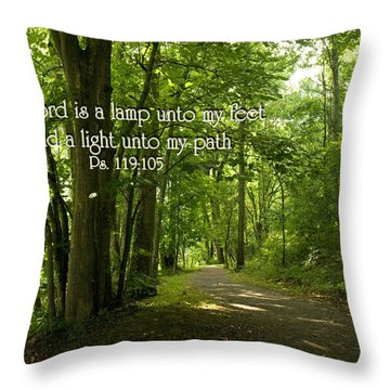 Thy Word Is A Lamp Unto My Feet Throw Pillow