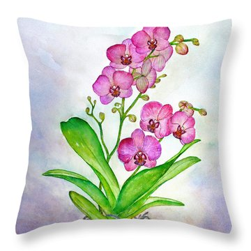 Ti Amo Orchid Throw Pillow
