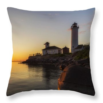 Tibbetts Point Lighthouse Throw Pillow