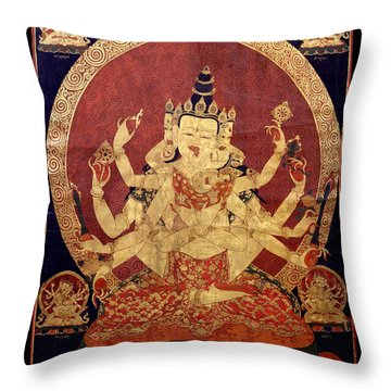 Tibetan Art Throw Pillow