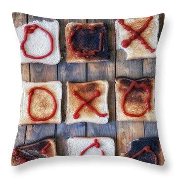 Tic Tac Toe Throw Pillow by Joana Kruse