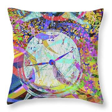 Throw Pillow featuring the digital art Tic Tac by Eleni Mac Synodinos