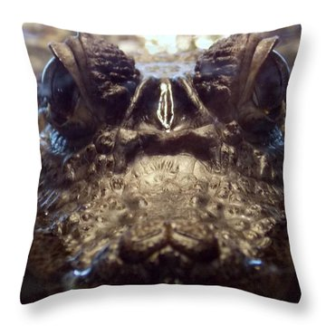 Throw Pillow featuring the photograph It's So Quiet, You Can Hear The Gators Breathing by John Glass