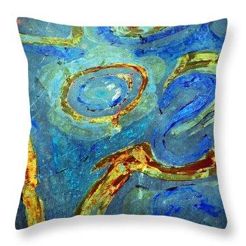 Tickled Throw Pillow by Leanna Lomanski