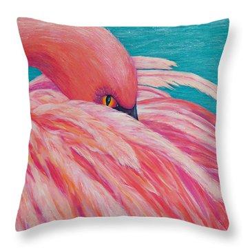 Tickled Pink Throw Pillow