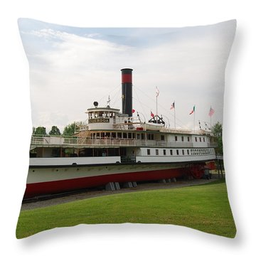 Throw Pillow featuring the photograph Ticonderoga On Dry Land by Caroline Stella