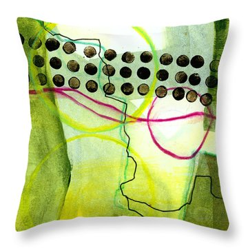 Tidal 14 Throw Pillow by Jane Davies
