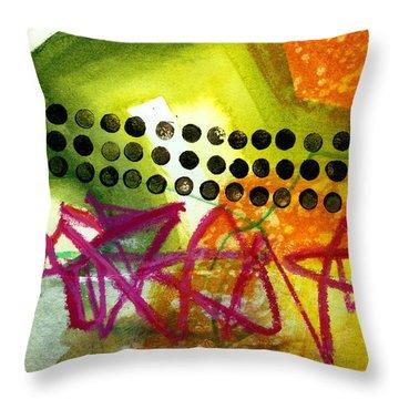Tidal 15 Throw Pillow by Jane Davies