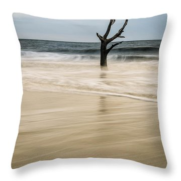 Tidal Beach Throw Pillow by Serge Skiba
