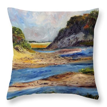 Tidal Dunes In Provincetown Throw Pillow
