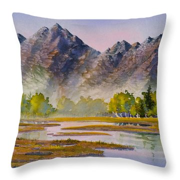 Tidal Flats Throw Pillow