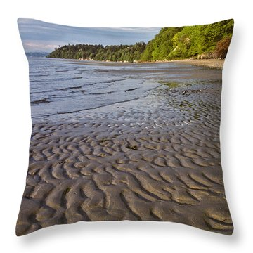 Throw Pillow featuring the photograph Tidal Pattern In The Sand by Jeff Goulden