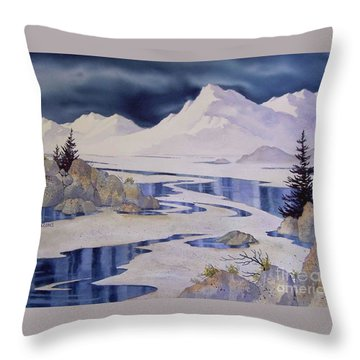 Tidal Patterns Iv Throw Pillow