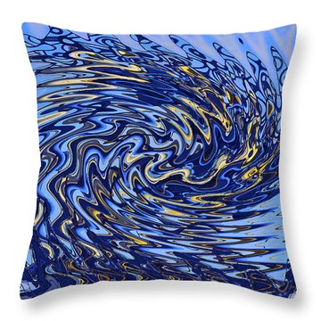Throw Pillow featuring the photograph Tidal Wave by Gary Holmes