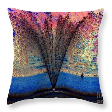 Throw Pillow featuring the photograph Tidal Wave Of Color by Sue Melvin