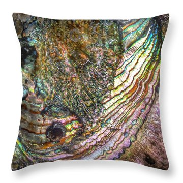 Tide And Time Throw Pillow by Casey Rasmussen White