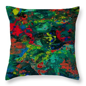 Throw Pillow featuring the painting Tide Pool by Jacqueline McReynolds