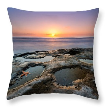 Tide Pool Sunset Throw Pillow