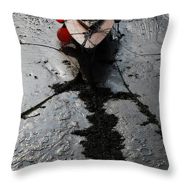 Tide's Out 1 Throw Pillow by Wendy Wilton