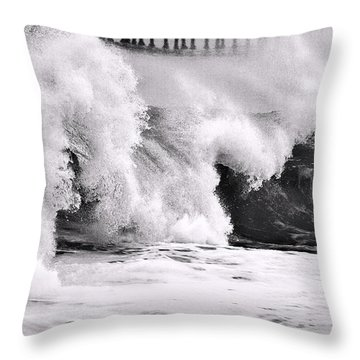 Tides Will Turn Bw By Denise Dube Throw Pillow