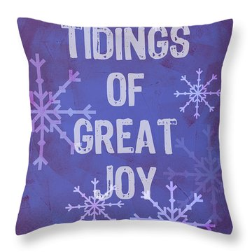 Tidings Of Great Joy Throw Pillow