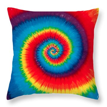 Tie Dye Throw Pillow
