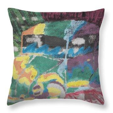 Tie-dye Beetle Throw Pillow