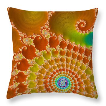 Tie Dye  Throw Pillow by Heidi Smith