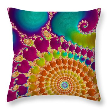 Tie Dye Spiral  Throw Pillow