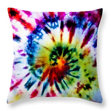 Tie Dyed T-shirt Throw Pillow