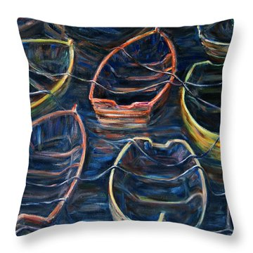 Tie Together In The Wind Throw Pillow by Xueling Zou