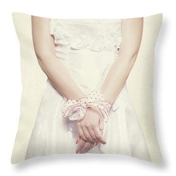 Tied Throw Pillow by Joana Kruse