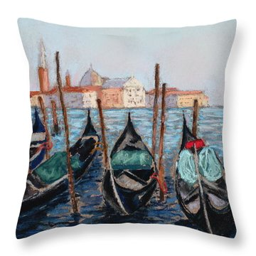 Tied Up In Venice Throw Pillow