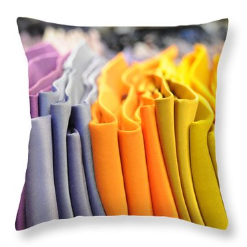 Ties I Throw Pillow by Paulette B Wright