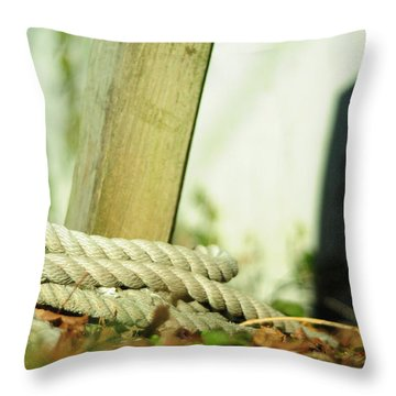 Throw Pillow featuring the photograph Ties by Rebecca Sherman