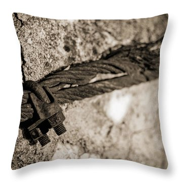 Throw Pillow featuring the photograph Ties That Bind by Amber Kresge