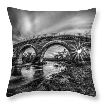 Tiffany Bridge Monochrome Throw Pillow