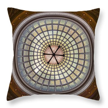 Tiffany Dome In Chicago Cultural Center Throw Pillow