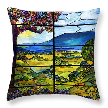 Tiffany Minnie Proctor Window Throw Pillow by Donna Walsh