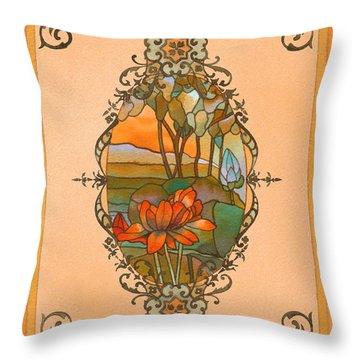 Tiffany Tree Throw Pillow