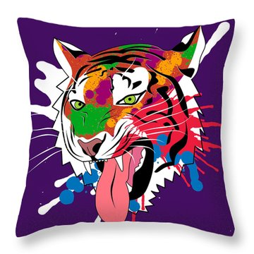 Tiger 11 Throw Pillow by Mark Ashkenazi